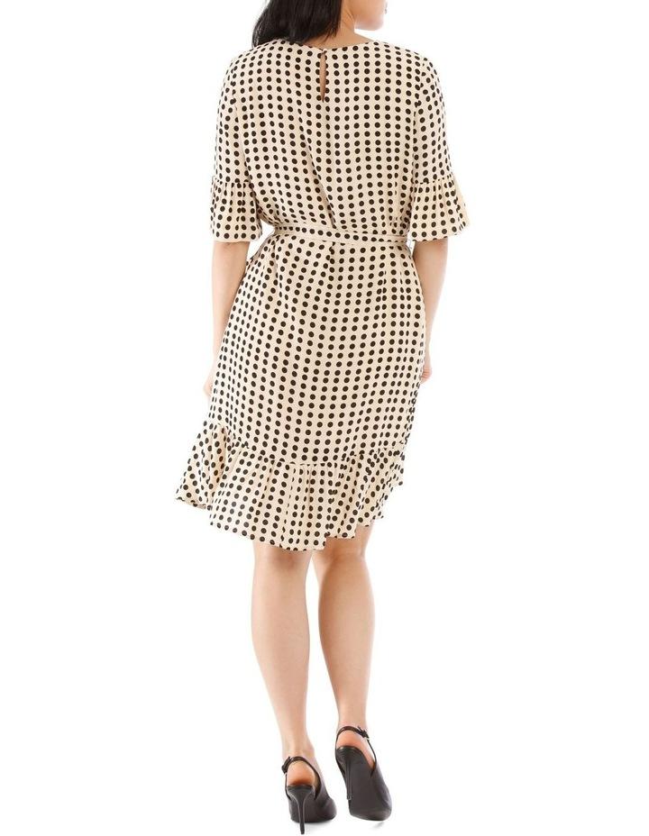 Cream Polka Bouquest Frill Tunic Dress image 3
