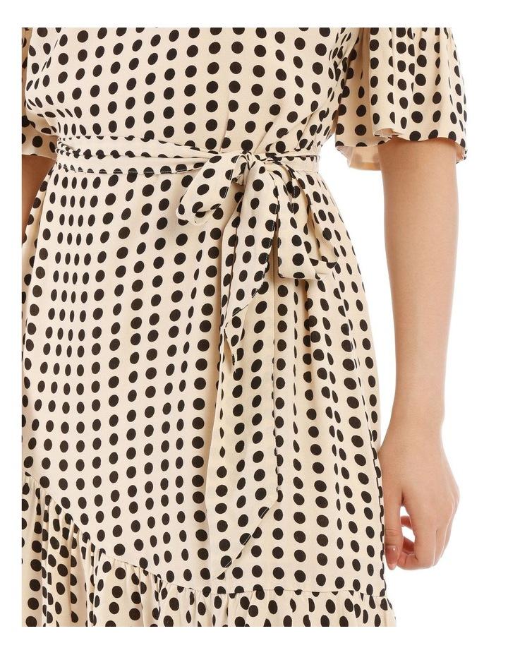 Cream Polka Bouquest Frill Tunic Dress image 4