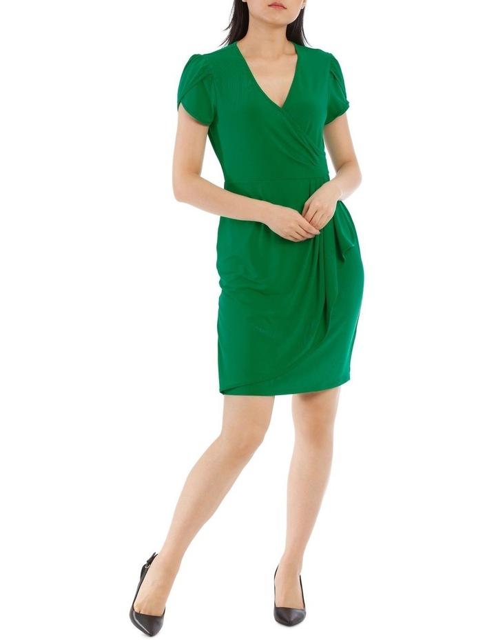 Emerald Contrast Pipe Wrap Dress image 1