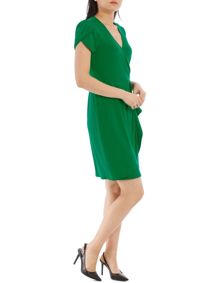 Emerald Contrast Pipe Wrap Dress image 2