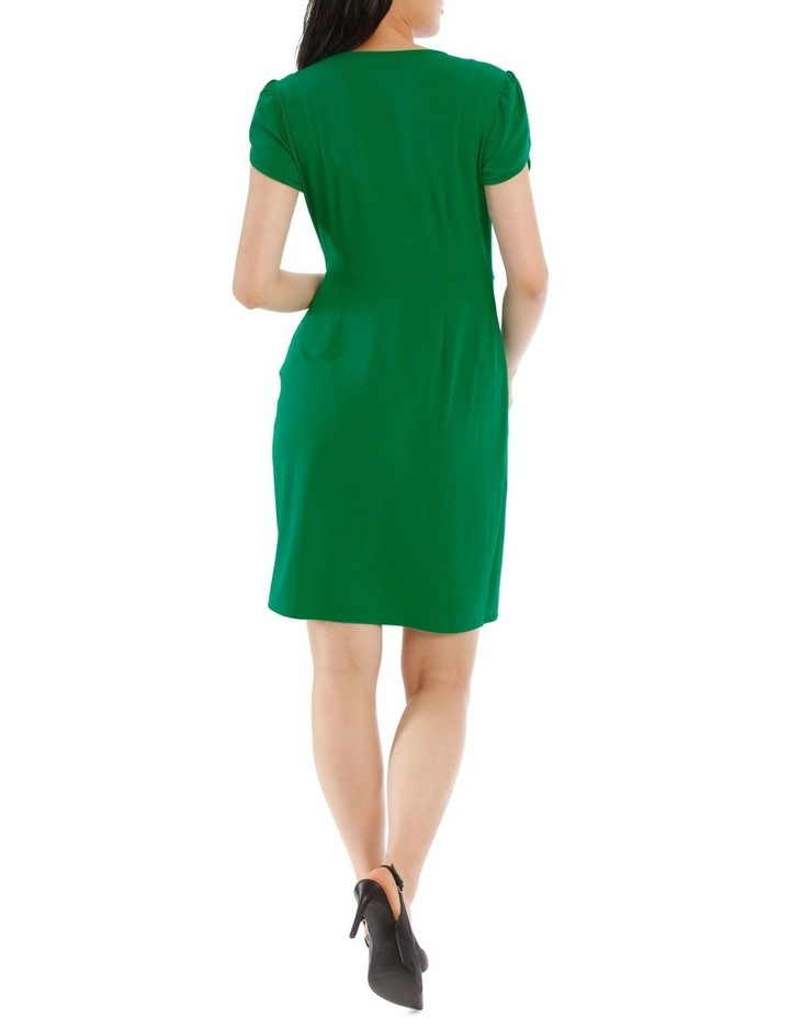 Emerald Contrast Pipe Wrap Dress image 3
