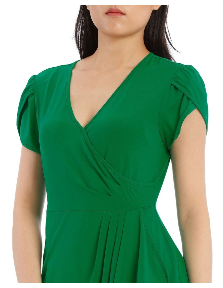 Emerald Contrast Pipe Wrap Dress image 4