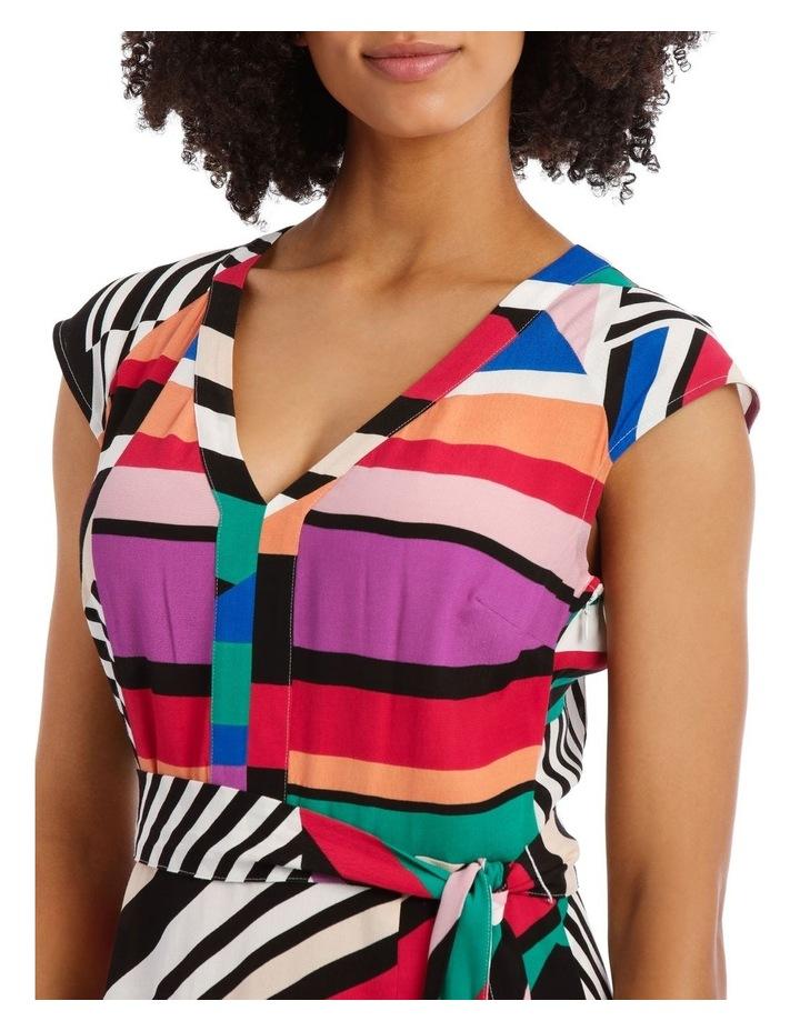 Flutter Sleeve Stripe Wrap Dress image 5