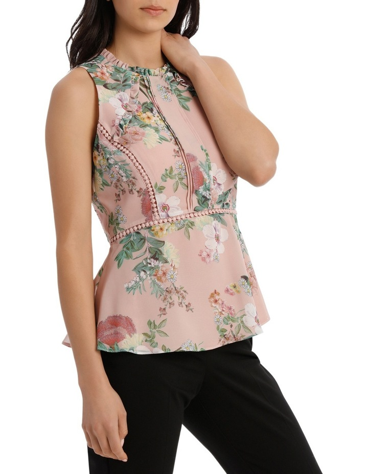 Valli Floral High Neck Ruffle Top image 2