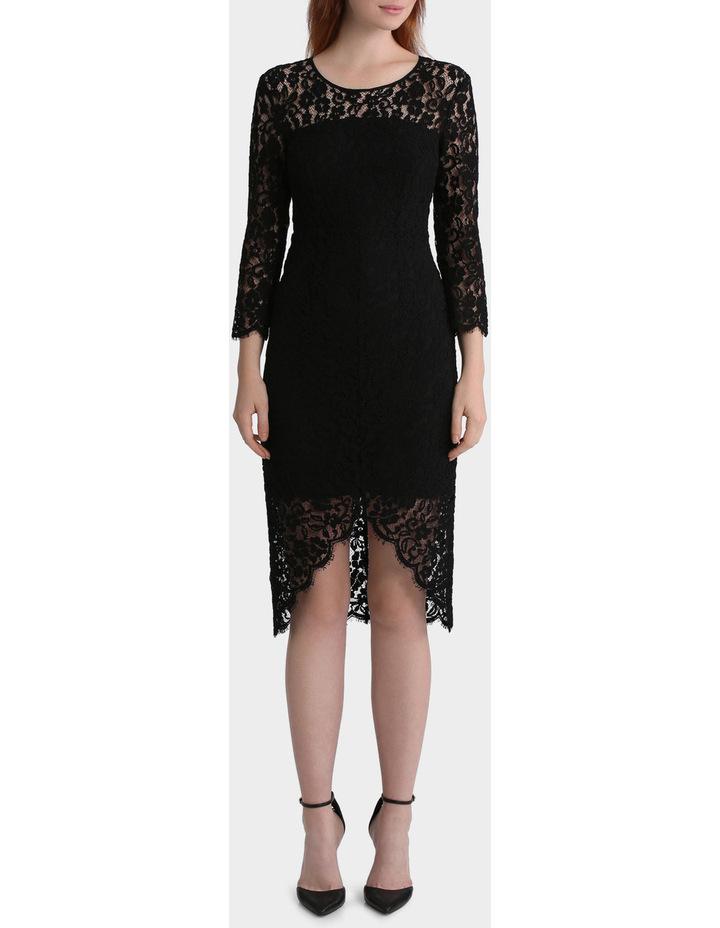 Lace Dress With Hem Detail image 1