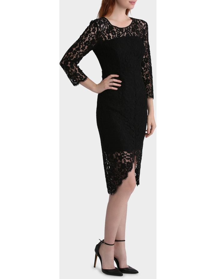 Lace Dress With Hem Detail image 2