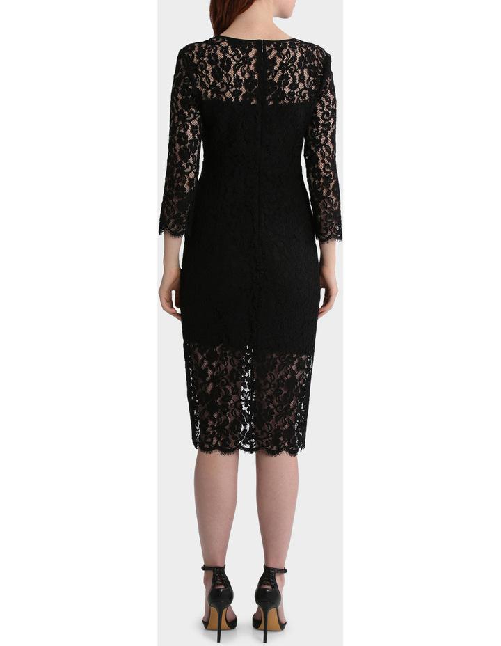 Lace Dress With Hem Detail image 3