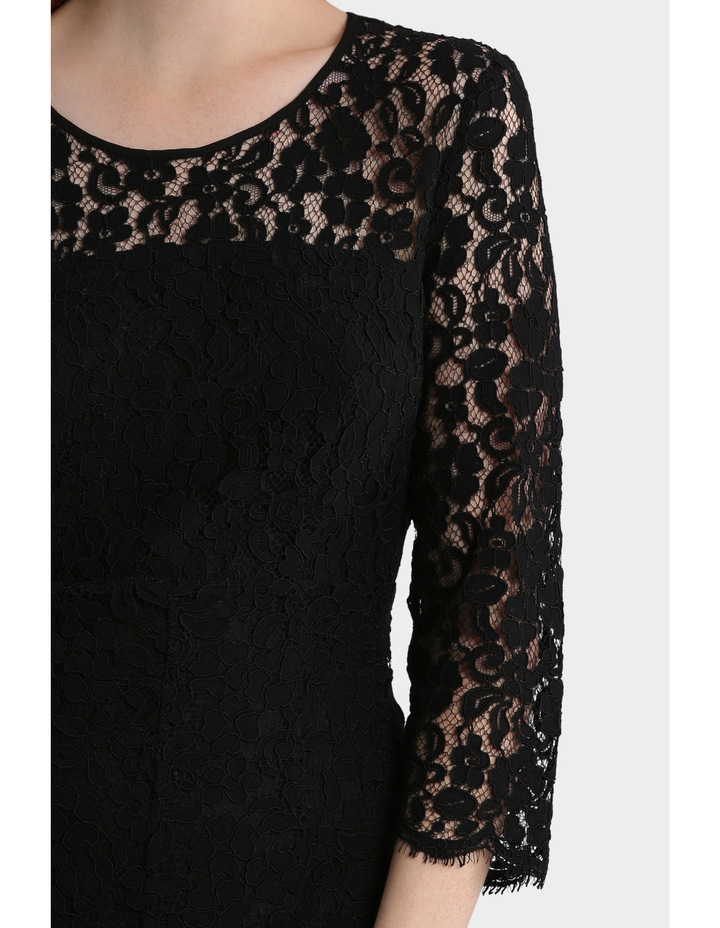 Lace Dress With Hem Detail image 4