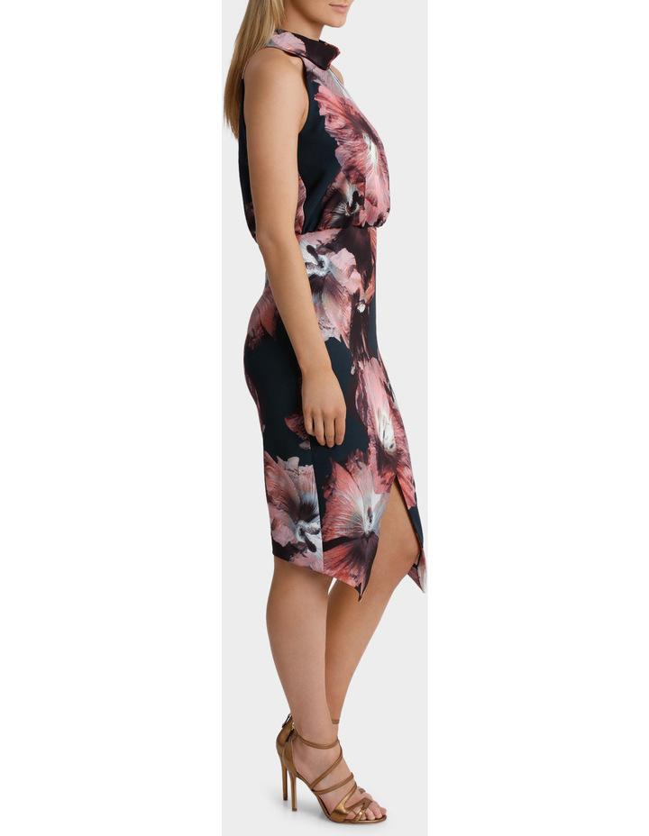 Carla Hibiscus Floral Halk Neck Dress image 2