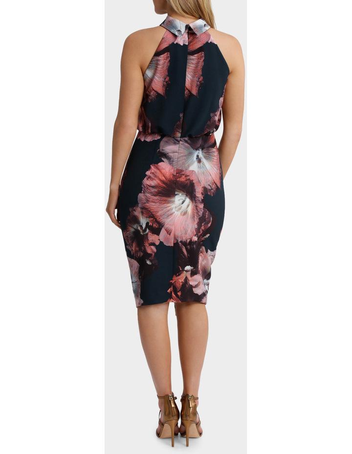 Carla Hibiscus Floral Halk Neck Dress image 3