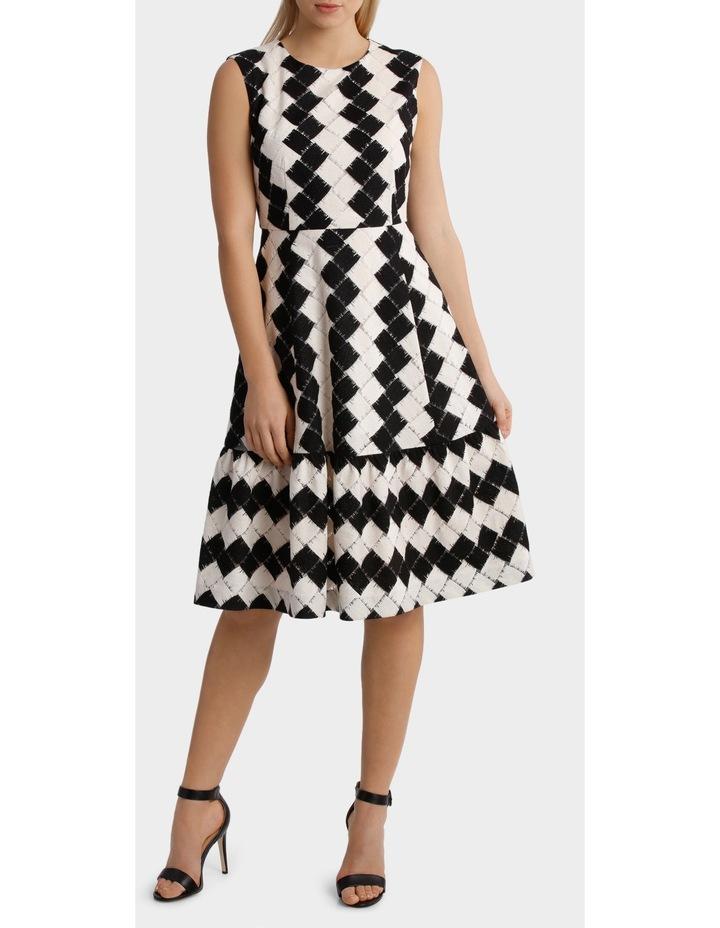 Black & White Tiered Dress image 1