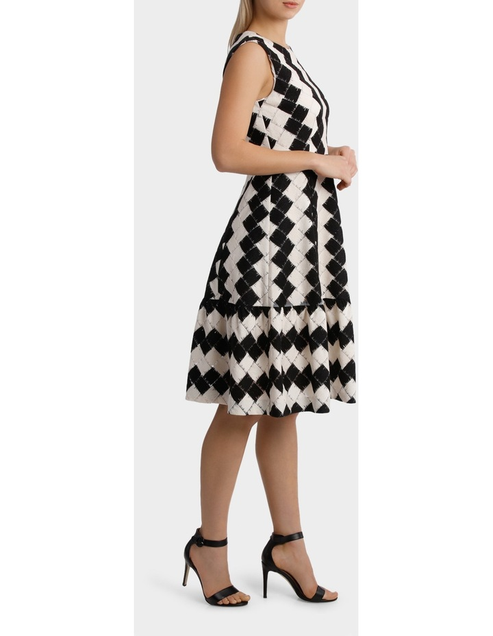 Black & White Tiered Dress image 2
