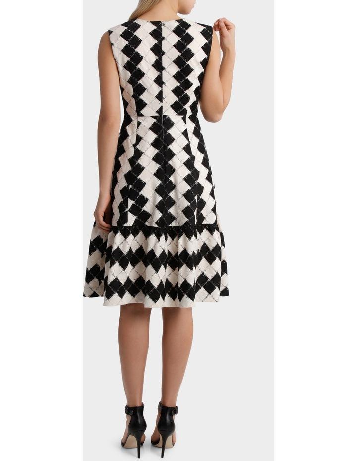 Black & White Tiered Dress image 3
