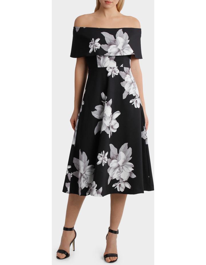 'Floral Mood' Off Shoulder Fit & Flare Dress image 1