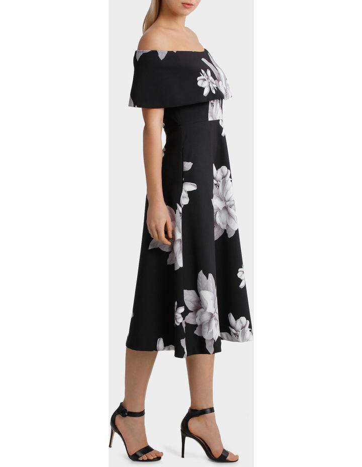 'Floral Mood' Off Shoulder Fit & Flare Dress image 2