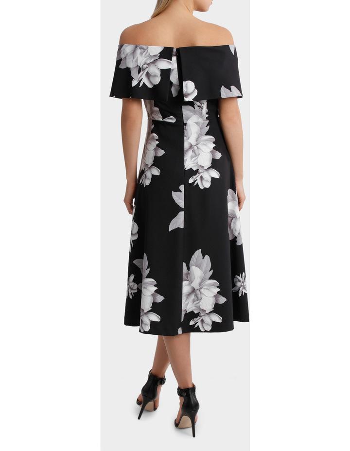 'Floral Mood' Off Shoulder Fit & Flare Dress image 3