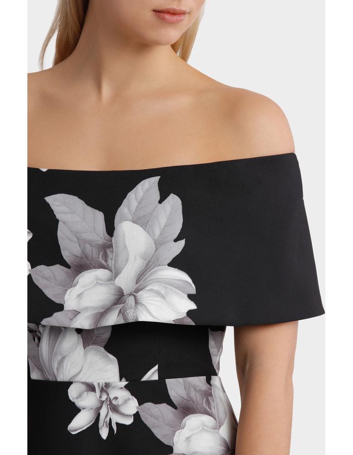 'Floral Mood' Off Shoulder Fit & Flare Dress image 4