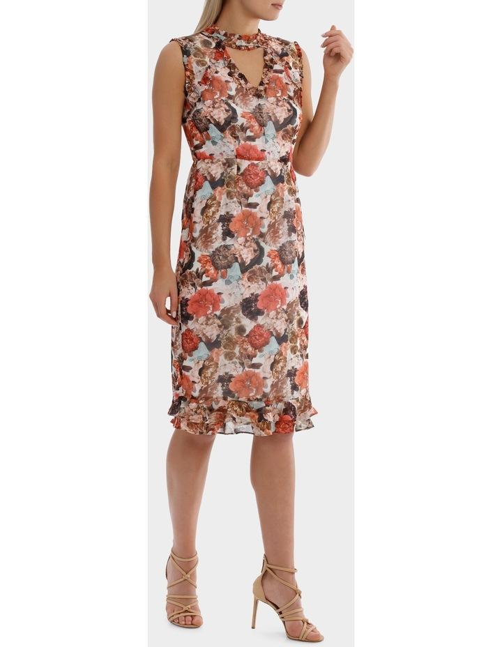 V Neck Photographic Print  Ruffle  Dress image 2
