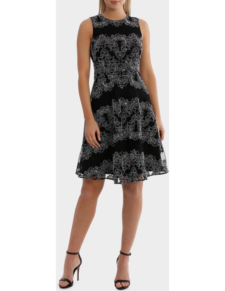 Cornelli Mesh Black And White Lace Dress image 1