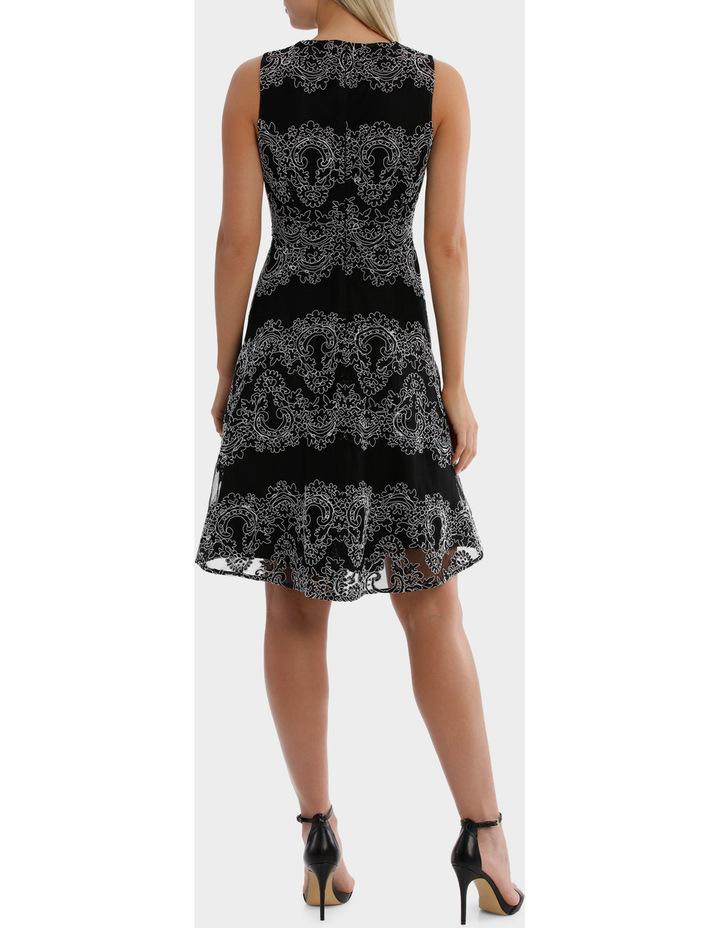 Cornelli Mesh Black And White Lace Dress image 3