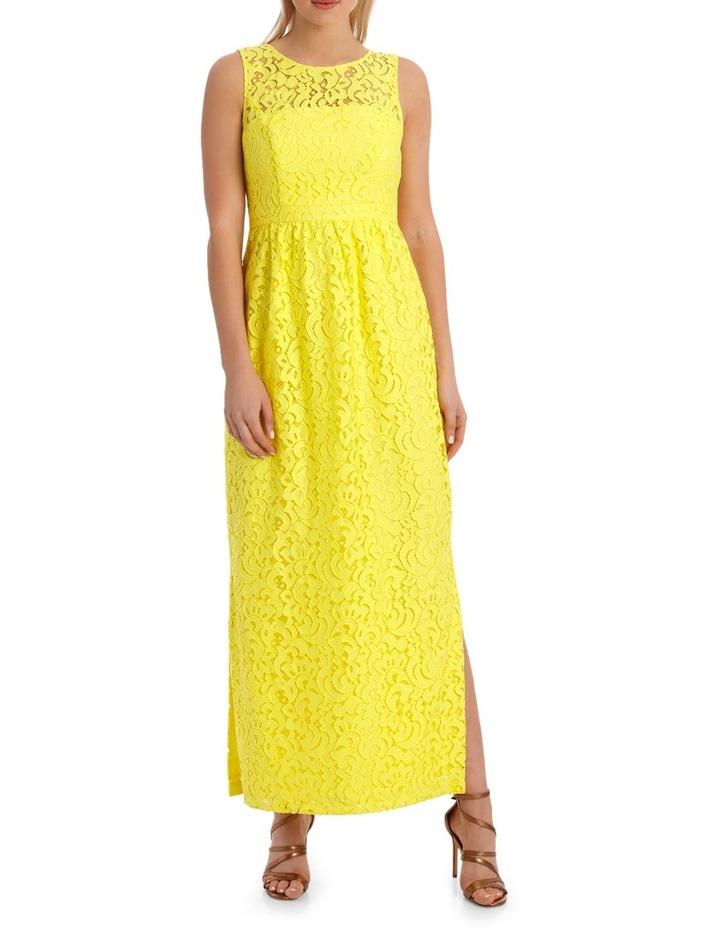 Jayson Brunsdon Black Label Yellow Lace Maxi Dress Myer
