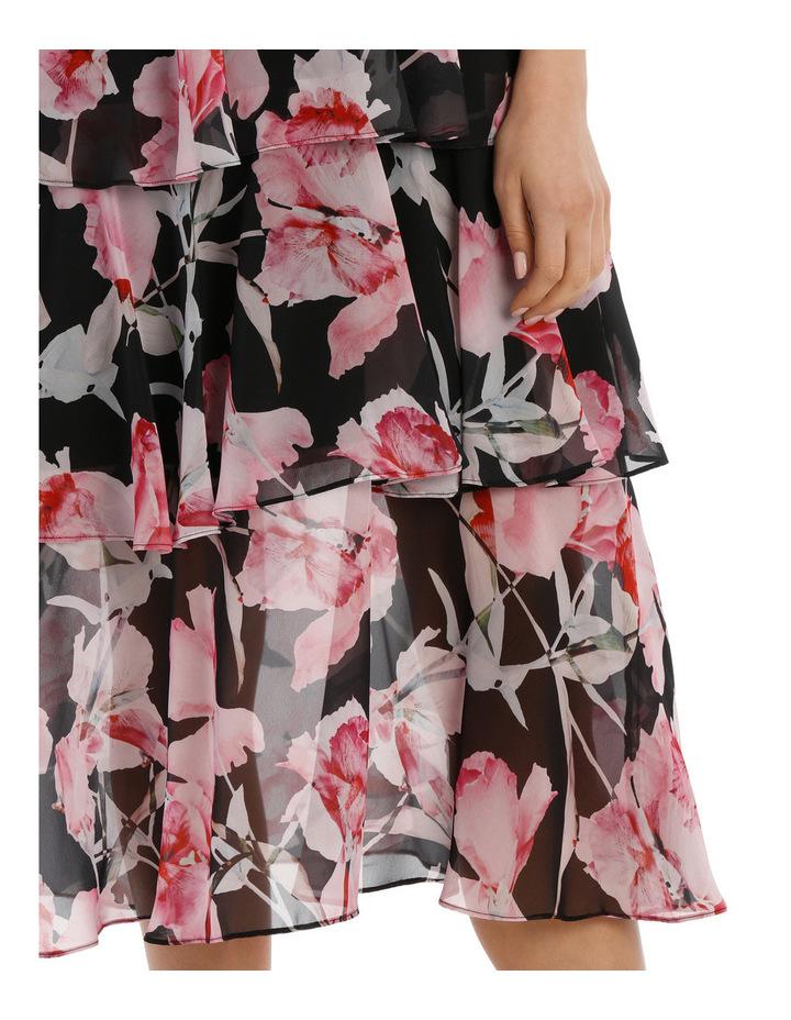 Canalily Dark Base High Neck Ruffle Dress image 4