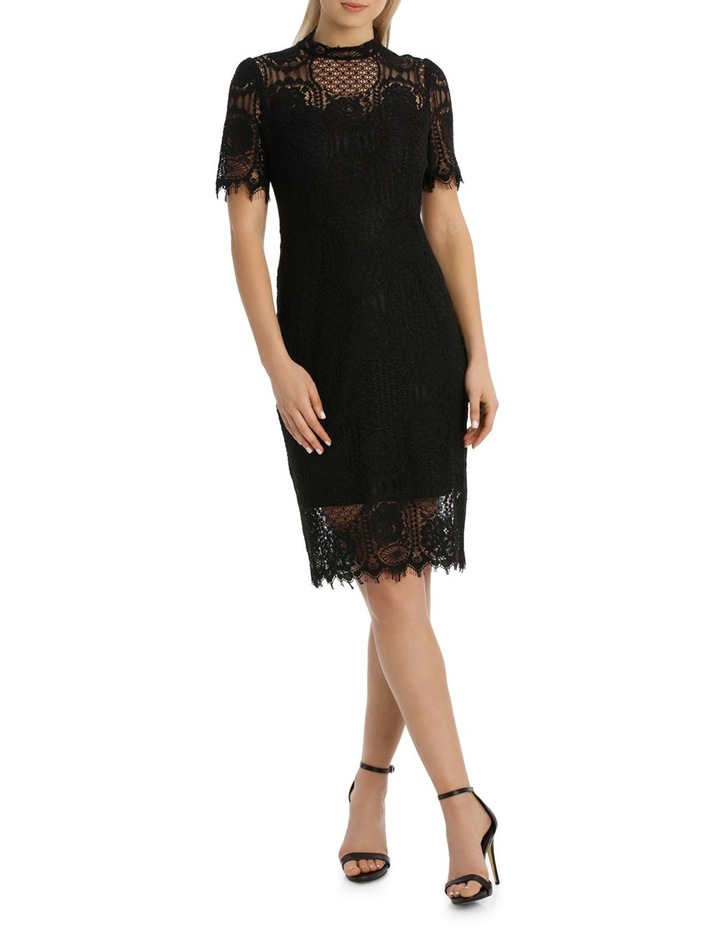 Cap Slv Black Lace Dress image 1