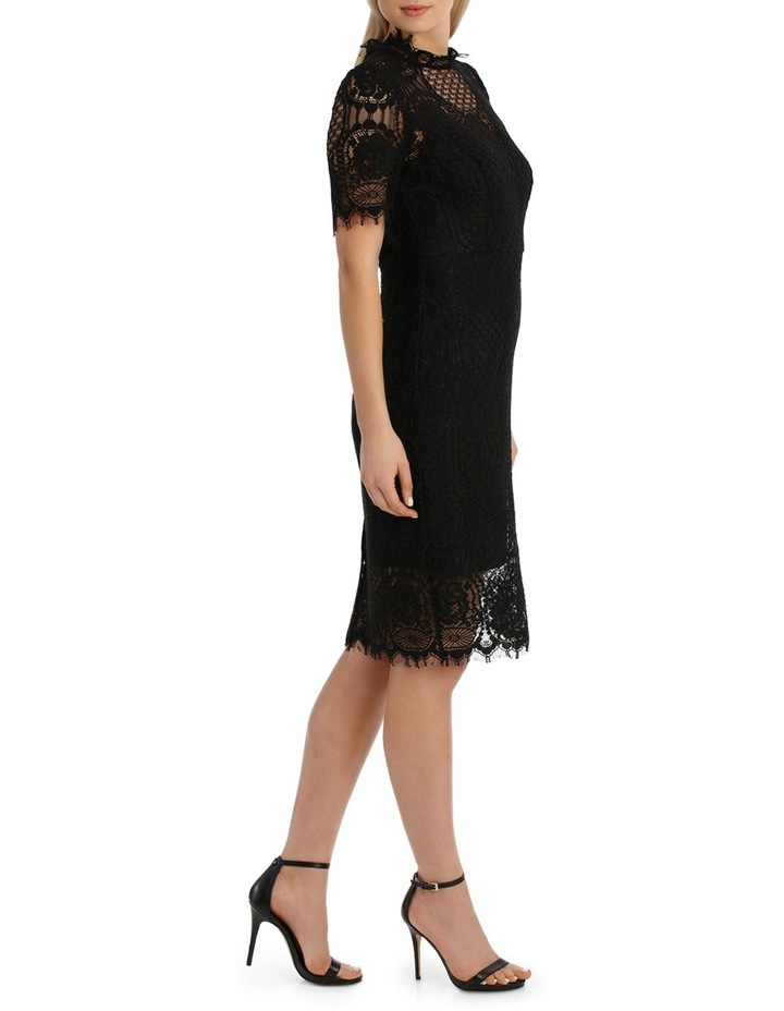 Cap Slv Black Lace Dress image 2
