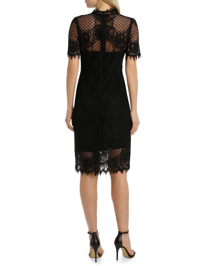Cap Slv Black Lace Dress image 3