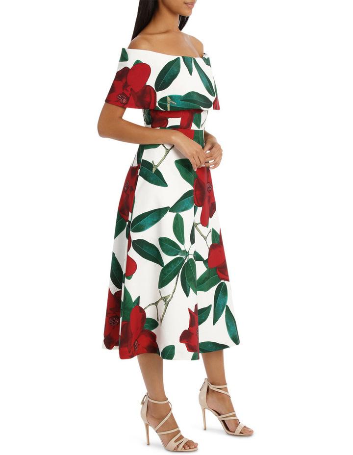 'Floral Allure Dark Rose' Off Shoulder Dress image 2