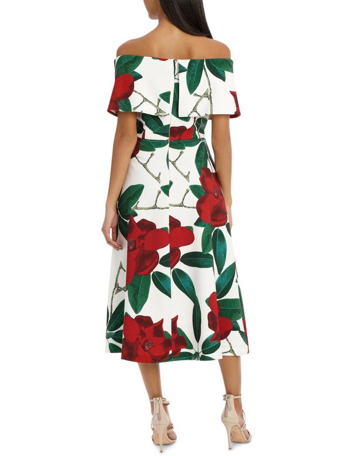 'Floral Allure Dark Rose' Off Shoulder Dress image 3