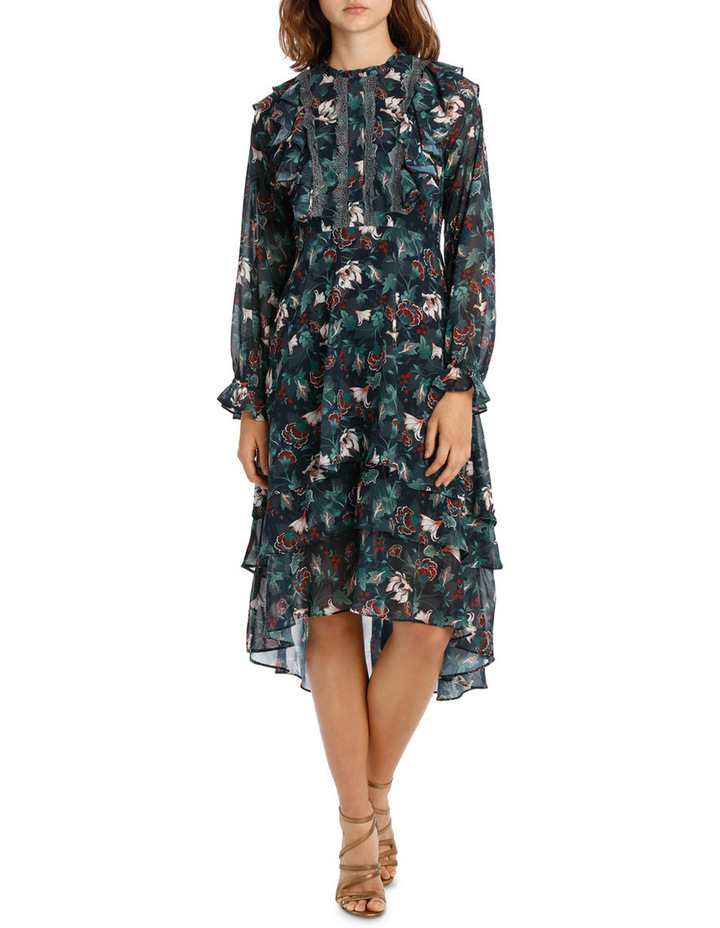 Midnight Etched Lily Tiered Maxi Dress image 1