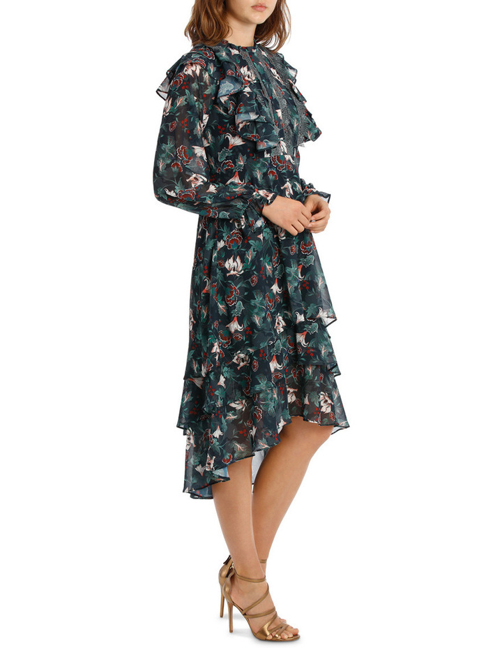Midnight Etched Lily Tiered Maxi Dress image 2