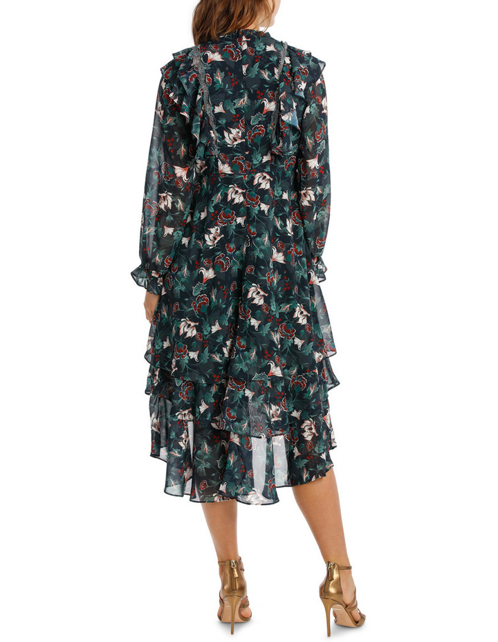 Midnight Etched Lily Tiered Maxi Dress image 3