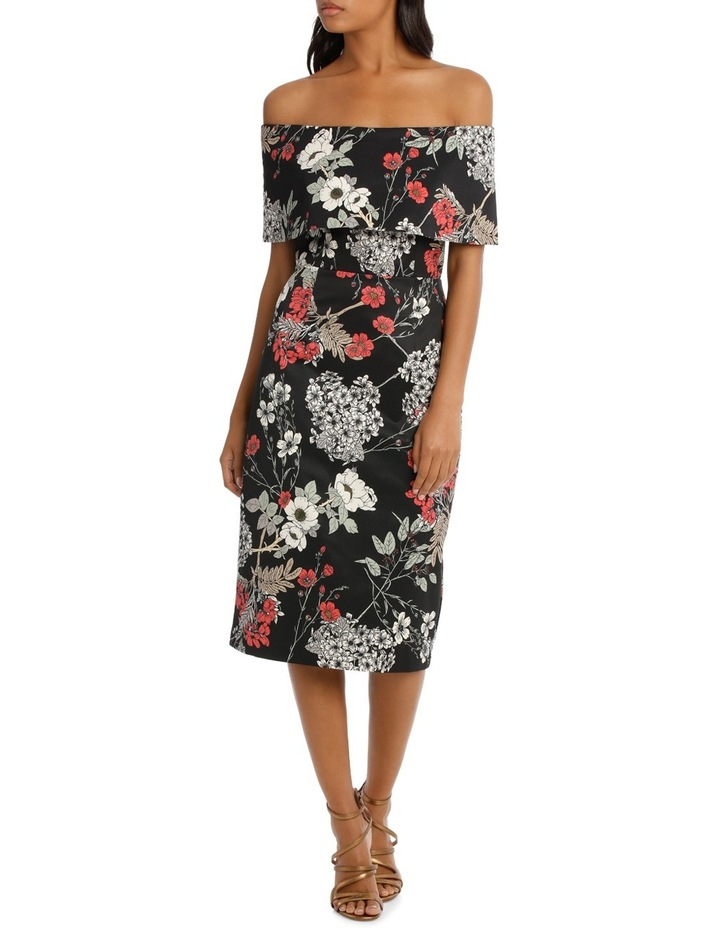 Oversized Woodland Print Ottoman Shift Dress image 1