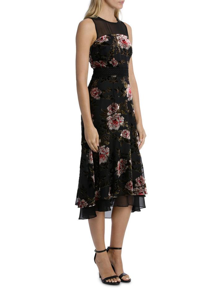Rose Velvet Burnout Flounce Dress image 2