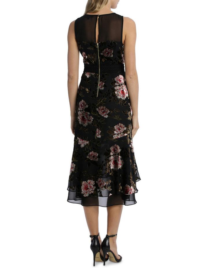Rose Velvet Burnout Flounce Dress image 3