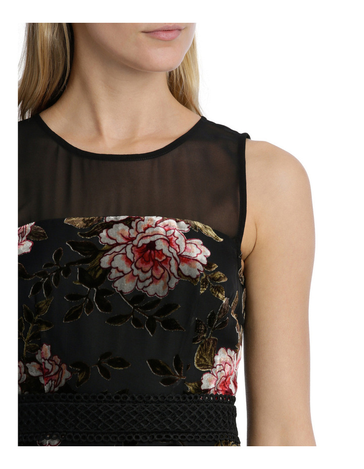Rose Velvet Burnout Flounce Dress image 4