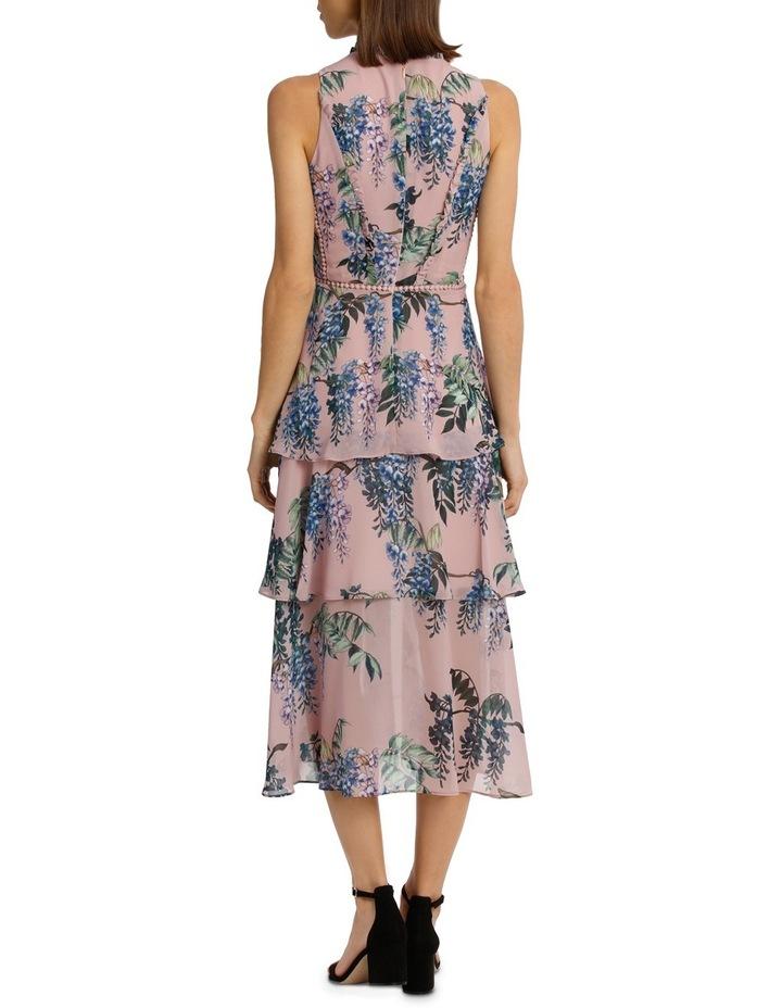 Pink Wisteria High Neck Ruffle Dress image 3