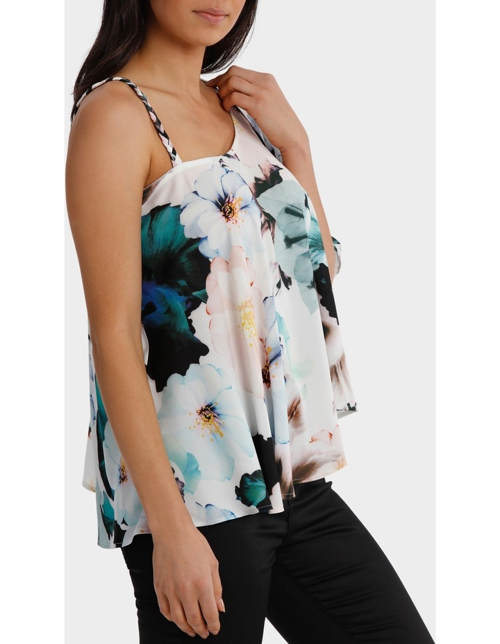 One Shoulder Zinnia Print Top image 2