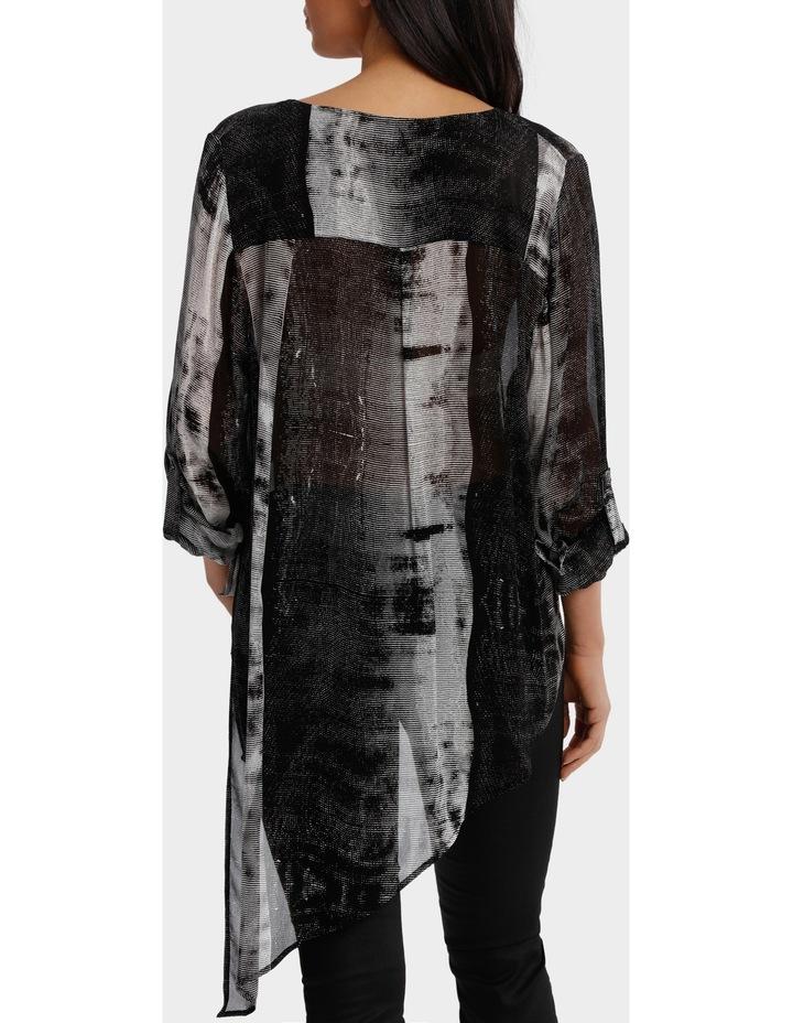 Stripe Ombre Black/White Print Top image 3