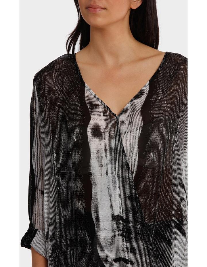 Stripe Ombre Black/White Print Top image 4