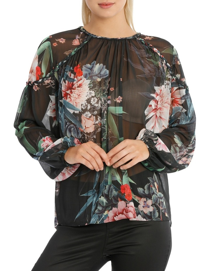 Braid Bamboo Floral Top image 1