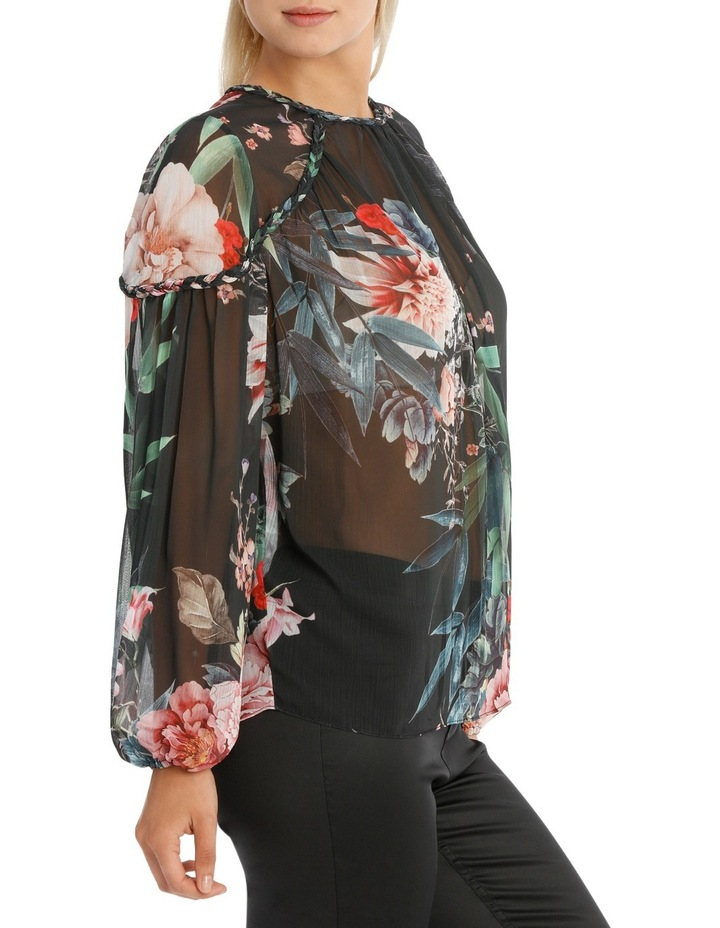 Braid Bamboo Floral Top image 2