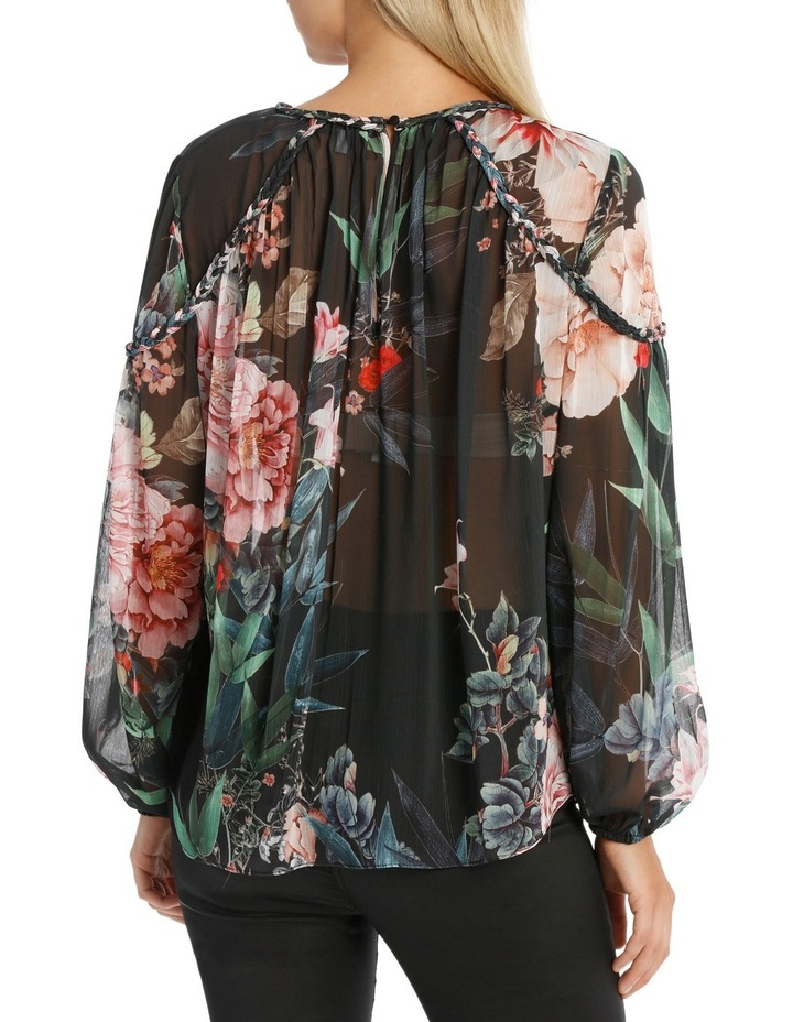 Braid Bamboo Floral Top image 3