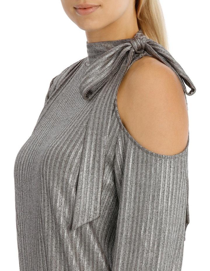 Silver Tie Neck Lurex Top image 4