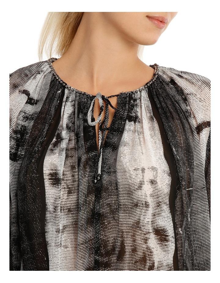 Stripe Ombre Flare Slv Shirt W/Trim Detail image 4