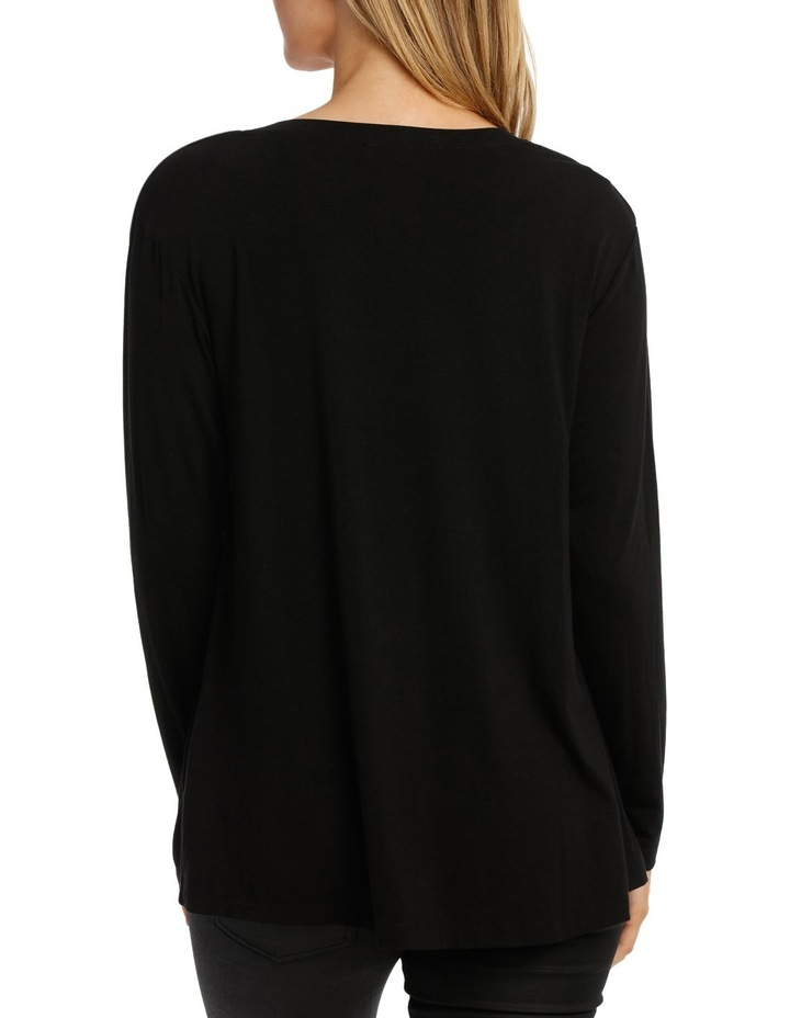 Black Long Sleeve Bling Tee image 3