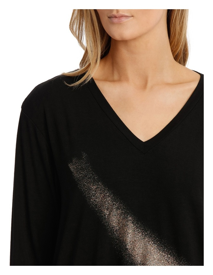 Black Long Sleeve Bling Tee image 4
