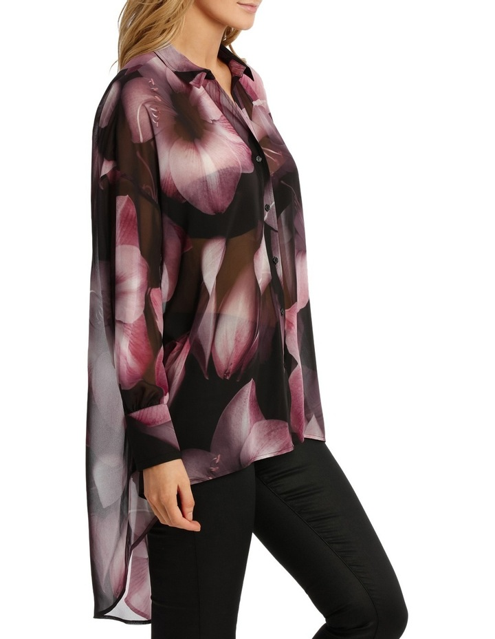 Shadow Floral Oversize Long Line Shirt image 2